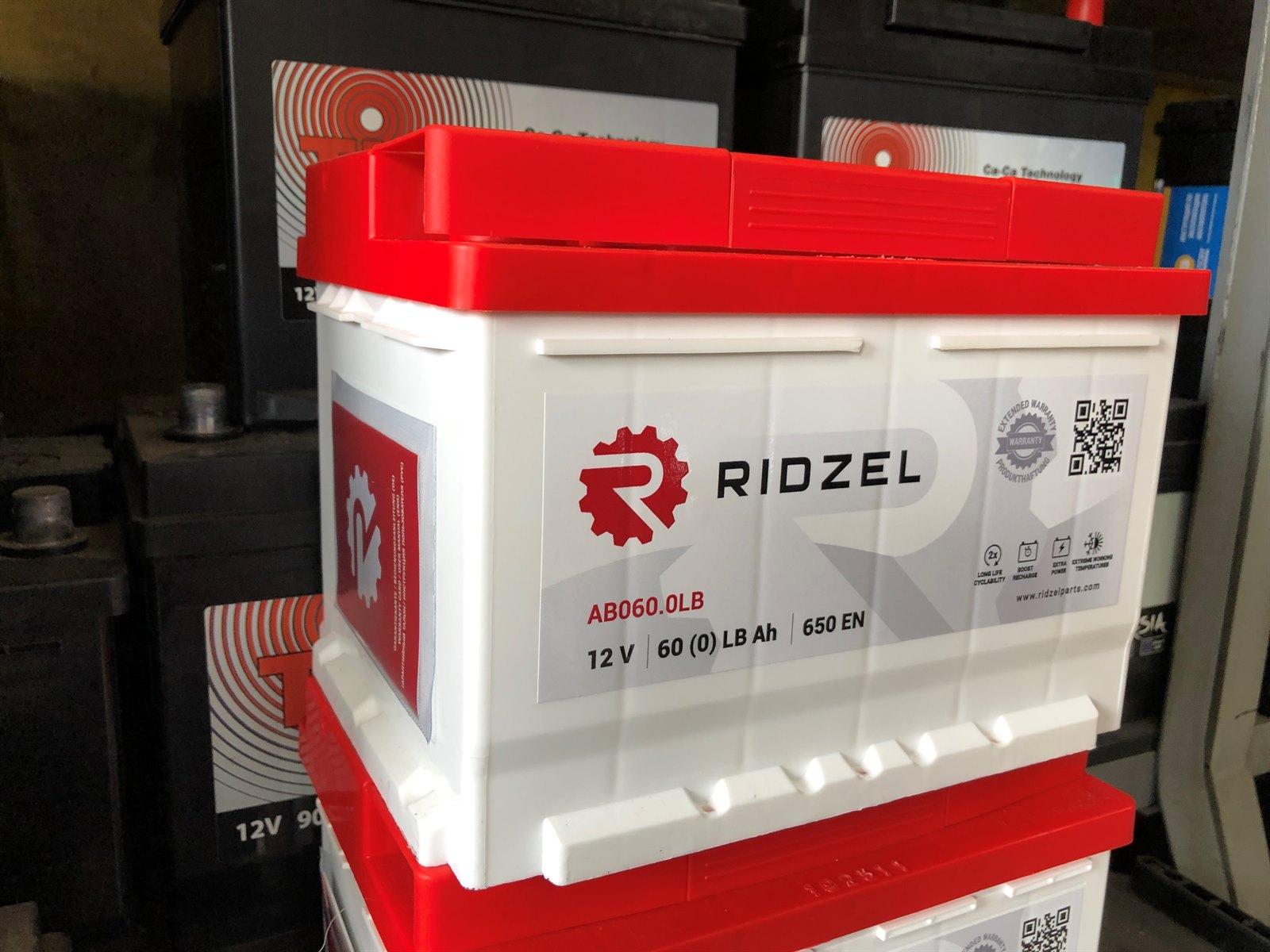 Аккумулятор RIDZEL AB060.0LB