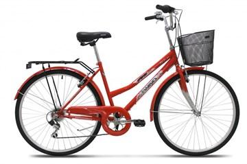 """Велосипед Wind CTB lady 28"""" 6-ск, красный с корзиной"""