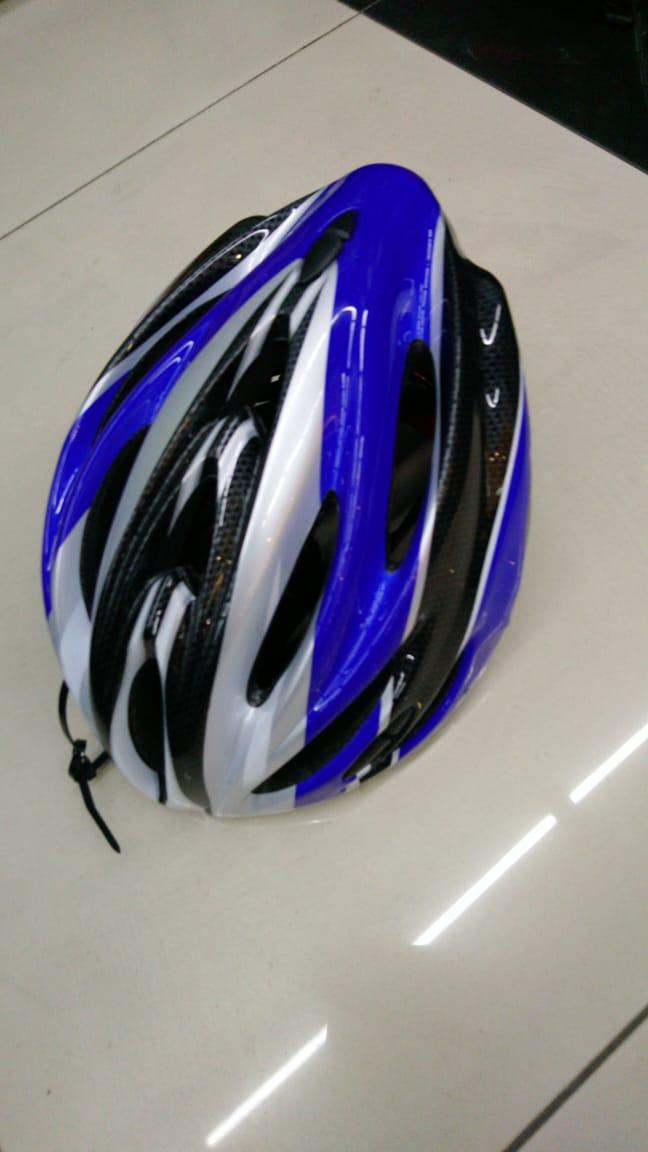 Шлем велосипедный K17 синий/черный, размер M/L