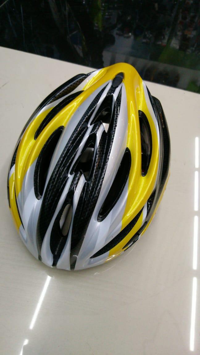 Шлем велосипедный K17 желтый/черный размер M/L