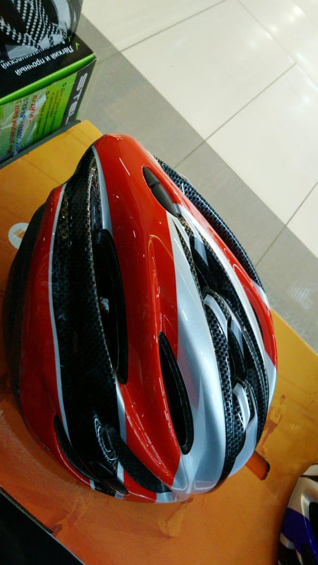Шлем велосипедный K17 красный/черный размер M/L