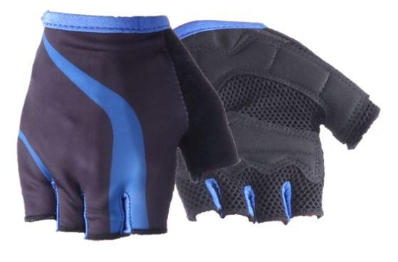 Перчатки без пальцев кож. зам, вставки BCGH-S-926 (размер L)