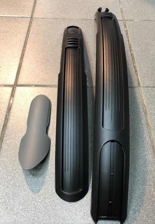 """Крылья комплект 27-29"""" YC-181 TRIX, пластик, ширина 60мм, заднее-раздвижное, МТВ, АТВ, чёрно-серые"""