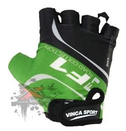 Подростковые велоперчатки VINCA SPORT VG 924 Green, размер XL