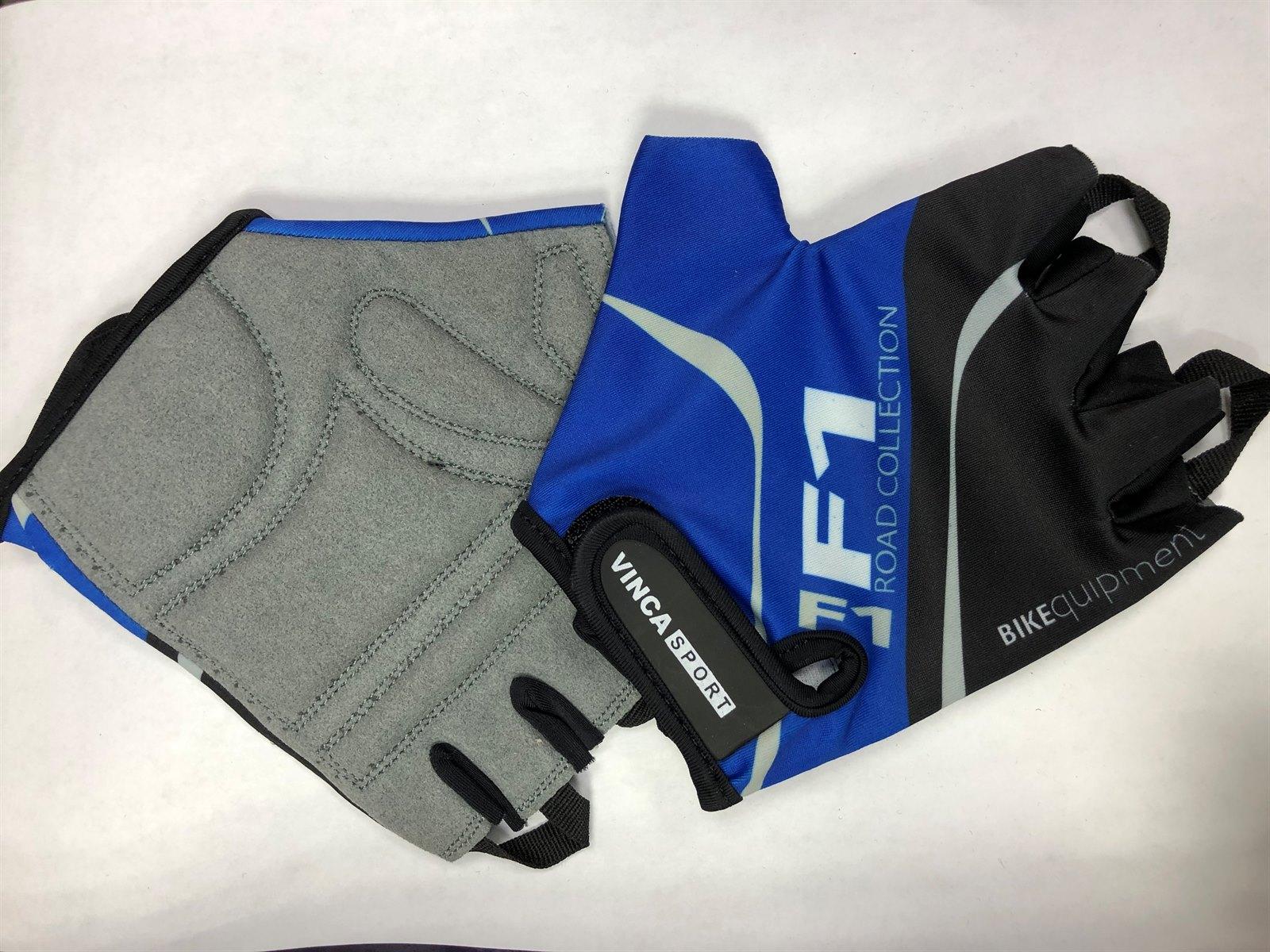 Подростковые велоперчатки VINCA SPORT VG 924 Blue, размер XL