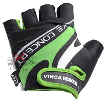 Мужские велоперчатки VINCA SPORT VG 949 Green, размер XL
