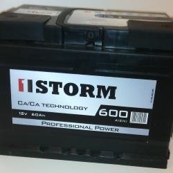 Автомобильный аккумулятор STORM Professional Power 72 оп низкая