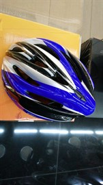 Шлем велосипедный KAGAMI (TW), S/M/L, сине-черно-белый