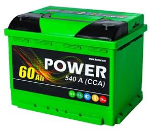 Power 6 СТ-60 N, автомобильный аккумулятор