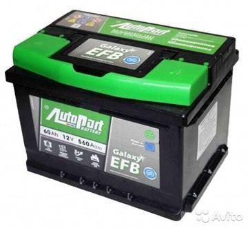 AutoPart Galaxy EFB 60, автомобильный аккумулятор