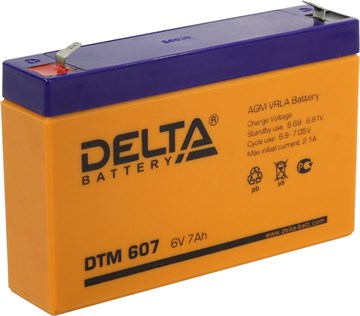 Delta DTM 607, аккумулятор для ИБП, сигнализации и др. оборудования