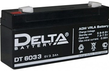 Delta DT 6033, аккумулятор для пожарной сигнализации