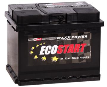 Ecostart 6CT-60 R, стартерный автомобильный аккумулятор