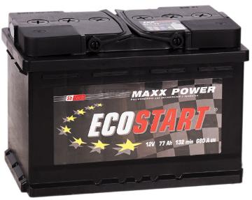 Ecostart 6CT-66 R, стартерный автомобильный аккумулятор