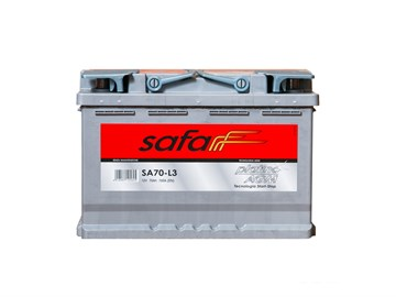 SAFA AGM SA70-L3, автомобильный аккумулятор