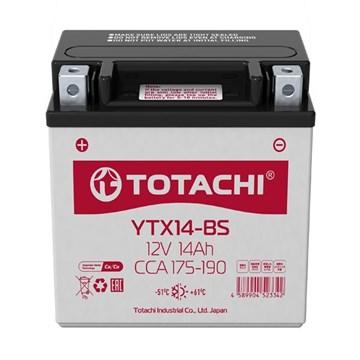Аккумуляторная батарея TOTACHI MOTO CMF 14а/ч YTX14-BS R