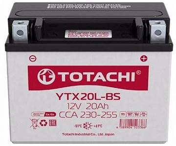 Мото аккумулятор TOTACHI MOTO CMF YTX20-BS L