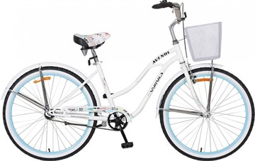 "Велосипед  Wind Avenu Lady 26"" 7-скор. белый с корзиной"