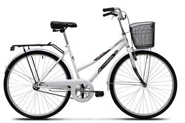 "Велосипед Wind CTB Lady 28"" 6-скор. 20"" белый с корзиной"