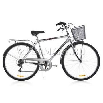"""Велосипед  Wind CTB MAN 28"""" 1-скор. 20"""" серебристый с корзиной"""