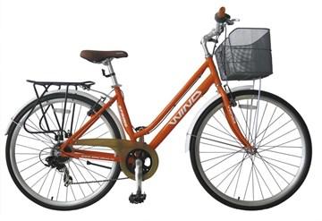 Велосипед  Wind SPRING 28 6-spd оранжевый  с корзиной