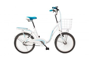 """Велосипед для девочек WIND FROZEN 20"""", белый с корзиной"""