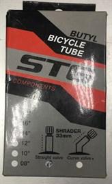 Камера велосипедная STG, бутил,14х1,75, автониппель 33мм, упаковка-коробка