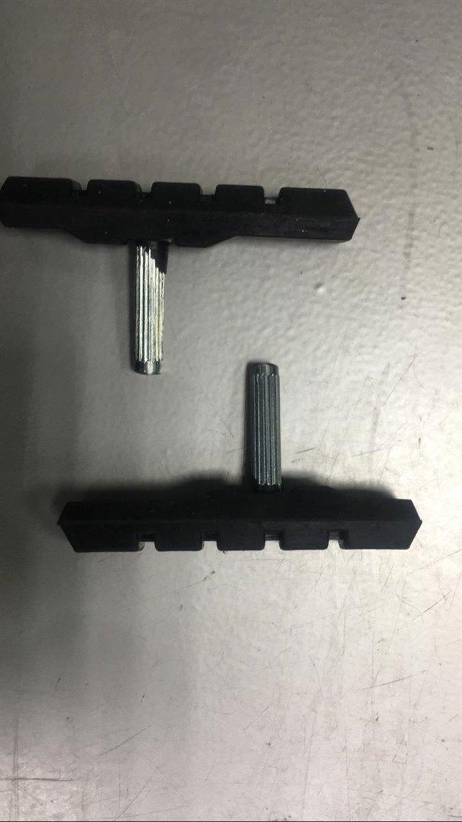 Колодки тормозные CB3-35-012 нерезьбовые для V-br ,72mm,чёрн.