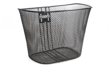 Велосипедная корзина: 35х26х26 см, цвет черный