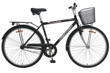 """Велосипед  Wind CTB MAN 28"""" 1-скор. 20"""" рама черный с корзиной"""