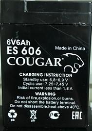 Cougar ES 606, аккумуляторная батарея для ИПБ