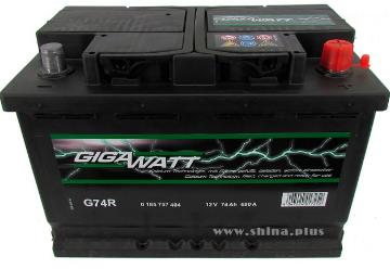 Аккумулятор Gigawatt G74R 574 104 068