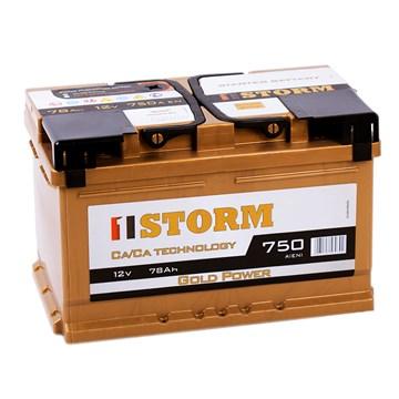 STORM Gold Power 78 (низкие стойки) автомобильный аккумулятор
