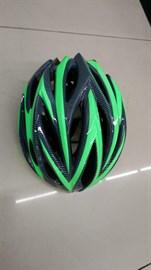 Шлем велосипедный K1402 зеленый/черный размер M/L