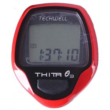 Велокомпьютер TECHWELL THITA-3 проводной, 10 функций (цв. красный)
