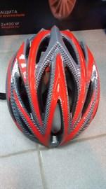 Шлем велосипедный K1402 красный/черный размер M/L