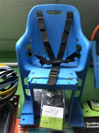 Кресло детское велосипедное заднее с креплением на багажник, голубое