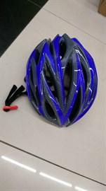 Шлем велосипедный K1402 синий/черный размер M/L
