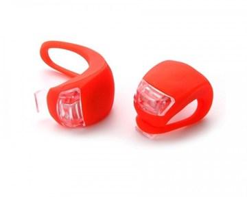 Фара, мягкое крепление, пластик, 2 светодиода, цвет красный, 2 шт. в комплекте