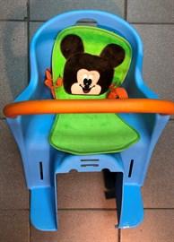 Кресло детское BC-188 крепление на раму сзади, голубое