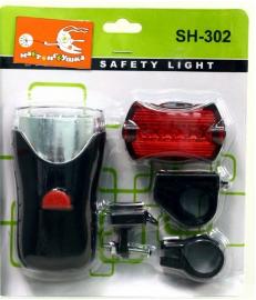 Комплект осветительного оборудования (передний фонарь - 4 LED, задний - 5 LED)