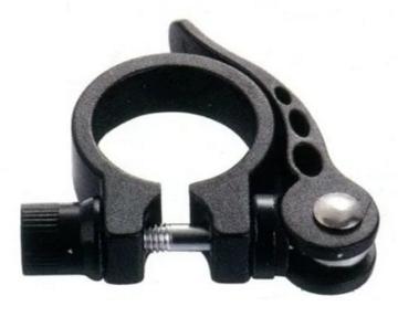 Эксцентрик подседельный с хомутом  ø 25.4 мм, алюминий, цвет чёрный