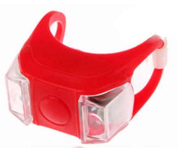 Фара HL009, мягкое крепление, пластик, 2 светодиода, красный