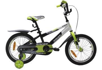Racer 16-001 (зеленый), детский спортивный велосипед