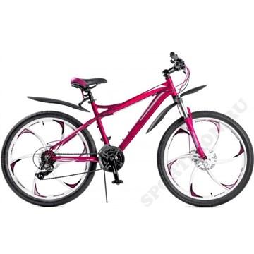 Велосипед женский на литых дисках BLACK AQUA Lady 2681 D (2018), фиолетовый