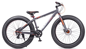 """Велосипед BLACK AQUA Fat 26"""" черно-оранжевый (2018)"""