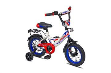Двухколесный велосипед для детей MAXXPRO SPORT 12 бело-сине-красный