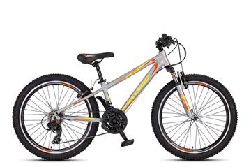Подростковый горный велосипед MAXXPRO HELLCAT 24, серо-оранжево-желтый
