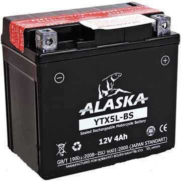 Мото аккумулятор ALASKA YTX5L-BS