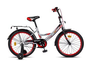 Велосипед MAXXPRO SPORT 20, серебристо-чёрно-красный